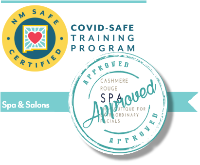Covid-Safe Training, New Mexico, Cashmere Rouge Spa Approved