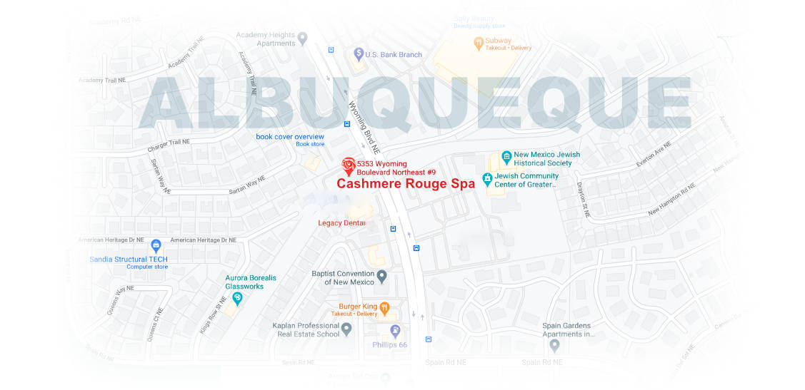 Cashmere Rouge Spa, 5353 Wyoming Blvd. NE, Suite 9, Albuquerque, NM